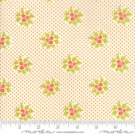 """Ella & Ollie""-Floral Posies White Milk by Fig Tree Quilts for Moda"