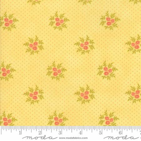 """Ella & Ollie""-Floral Posies Yellow Daisy by Fig Tree Quilts for Moda"