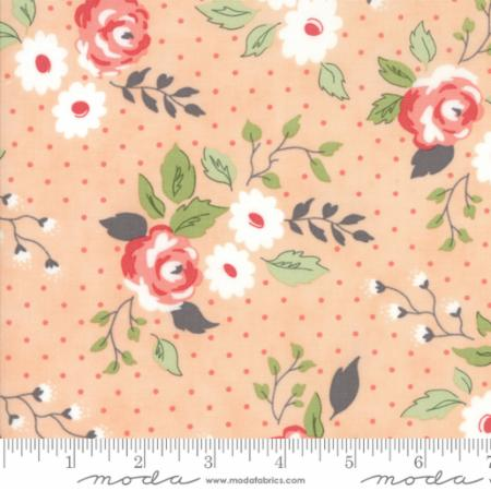 """Nest""-Floral Full Bloom Peach by Lella Boutique for Moda"