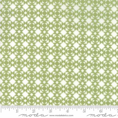 """Nest""-Floral Linoleum Light Green by Lella Boutique for Moda"