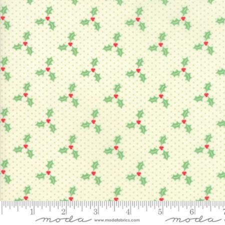 """Swell Christmas""-Christmas Holly Light Green by Urban Chiks for Moda"