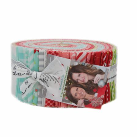 """Vintage Holiday"" 40 piece Jelly Roll 2.5"" x 44"" by Bonnie & Camille for Moda"