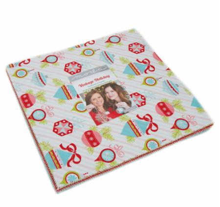 """Vintage Holiday"" 42 piece Layer Cake 10"" x 10"" by Bonnie & Camille for Moda"