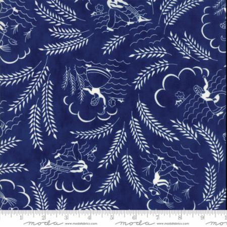 """Feed Sacks True Blue""-Reproduction Countryside Navy by Linzee Kull McCray for Moda"