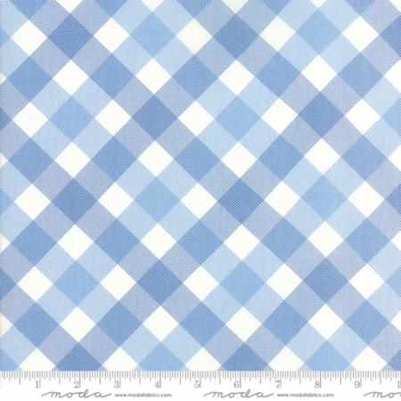 """Feed Sacks True Blue""-Reproduction On Point Plaid Light Blue by Linzee Kull McCray for Moda"
