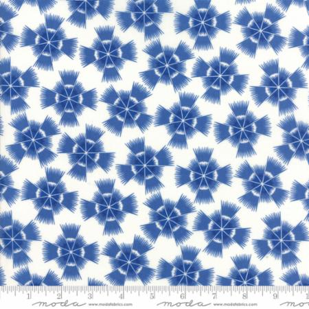 """Feed Sacks True Blue""-Reproduction Starburst Cornflower by Linzee Kull McCray for Moda"