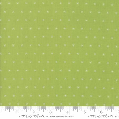 """Christmas Figs""-Christmas Twinkle Stars Light Green by Fig Tree Quilts for Moda"