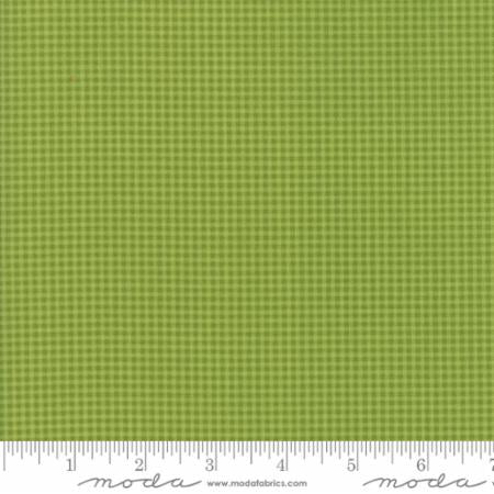 """Christmas Figs""-Christmas Gingham Light Green by Fig Tree Quilts for Moda"