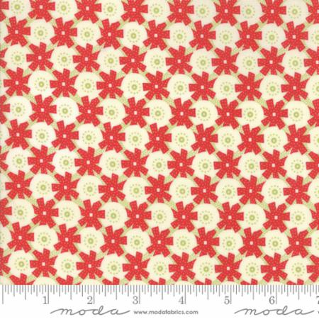 """Christmas Figs""-Christmas Giftwrap Red Pomegranate by Fig Tree Quilts for Moda"