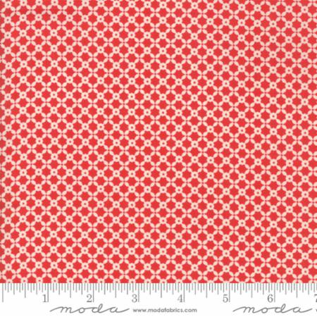 """Christmas Figs""-Christmas Tiles Red Pomegranate by Fig Tree Quilts for Moda"