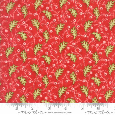 """Christmas Figs""-Christmas Garland Red Pomegranate by Fig Tree Quilts for Moda"
