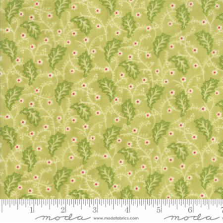 """Christmas Figs""-Christmas Garland Light Green Mistletoe by Fig Tree Quilts for Moda"