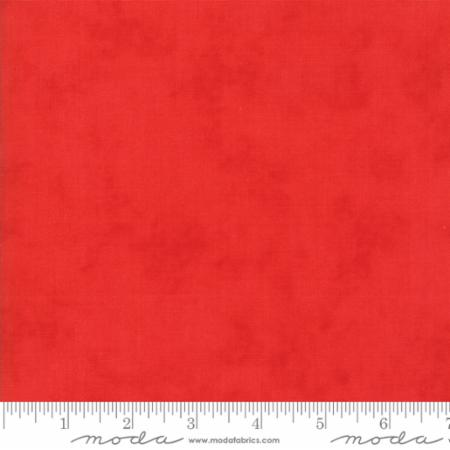 """Christmas Figs""-Christmas Printed Solid Red Pomegranate by Fig Tree Quilts for Moda"