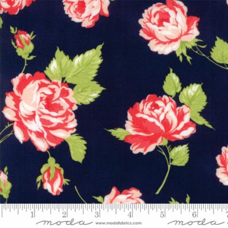 """Smitten""-Rosy Navy by Bonnie & Camille for Moda"