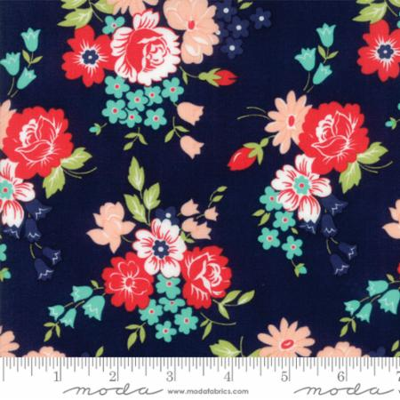 """Smitten""-Bouquet Navy by Bonnie & Camille for Moda"