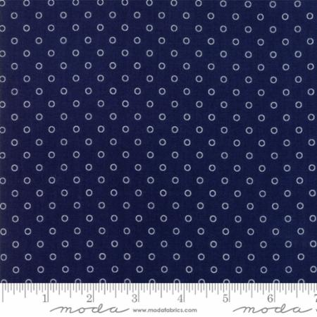 """Smitten""-Little Darling Dot Navy by Bonnie & Camille for Moda"