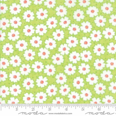"""Badda Bing!""-Floral Cherry Blooms Light Green by Me and My Sister Designs for Moda"