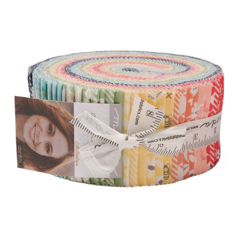"""Garden Variety"" 40 piece Asst 2.5"" x 44"" Jelly Roll by Lella Boutique for Moda"