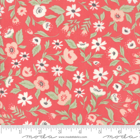 """Garden Variety""-Floral Garden Bed Berry by Lella Boutique for Moda"
