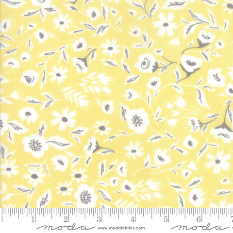 """Garden Variety""-Floral Garden Bed Sunshine by Lella Boutique for Moda"