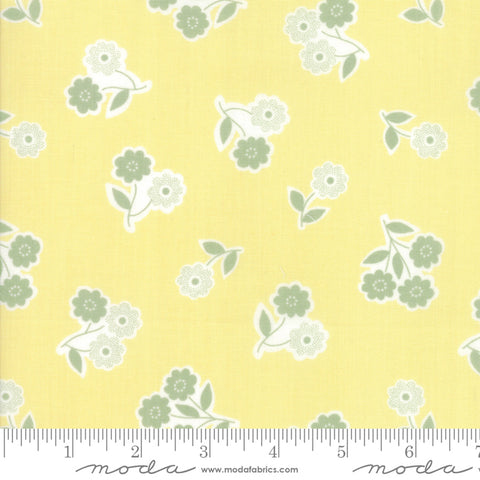 """Garden Variety""-Floral Handpicked Sunshine by Lella Boutique for Moda"