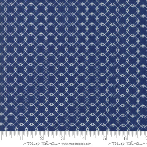 """Garden Variety""-Floral Brambles Navy by Lella Boutique for Moda"