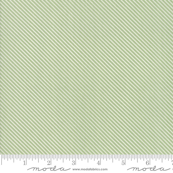 """Garden Variety""-Floral Candy Stripe Grass by Lella Boutique for Moda"