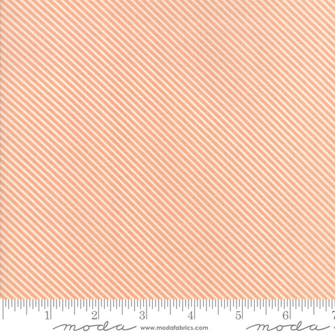 """Garden Variety""-Floral Candy Stripe Apricot by Lella Boutique for Moda"