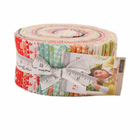 """Farmhouse II"" Jelly Roll 40Pc by Fig Tree Quilts for Moda"