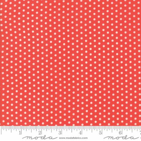 """Farmhouse II""-Floral Polka Dotties Red by Fig Tree Quilts for Moda"