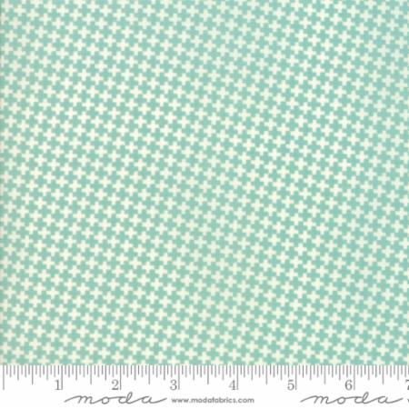 """Farmhouse II""-Floral Mini Criss Cross Aqua by Fig Tree Quilts for Moda"