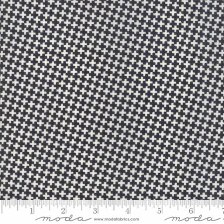 """Farmhouse II""-Floral Mini Criss Cross Black by Fig Tree Quilts for Moda"