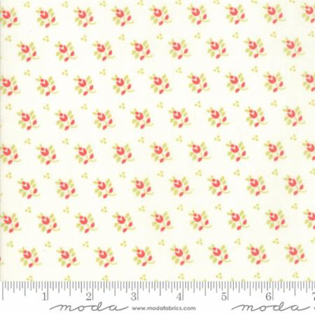 """Farmhouse II""-Floral Prairie Feedsack White by Fig Tree Quilts for Moda"