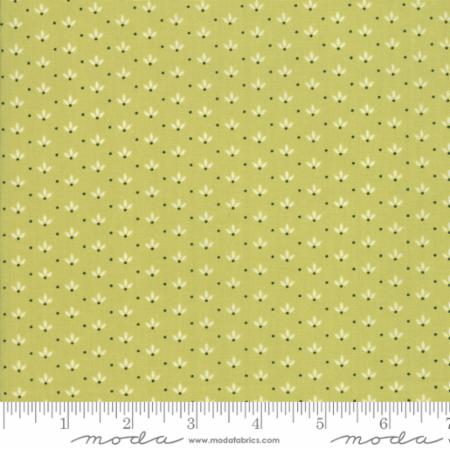 """Farmhouse II""-Floral Dandelion Wisps Light Green by Fig Tree Quilts for Moda"