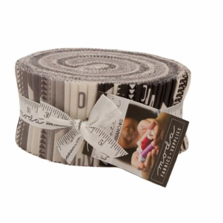 """Urban Cottage"" 40 piece Jelly Roll 2.5"" x 44"" by Urban Chiks for Moda"