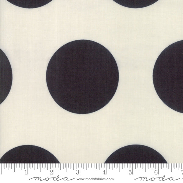 """Urban Cottage""-Urban Spots Ivory Black by Urban Chiks for Moda"