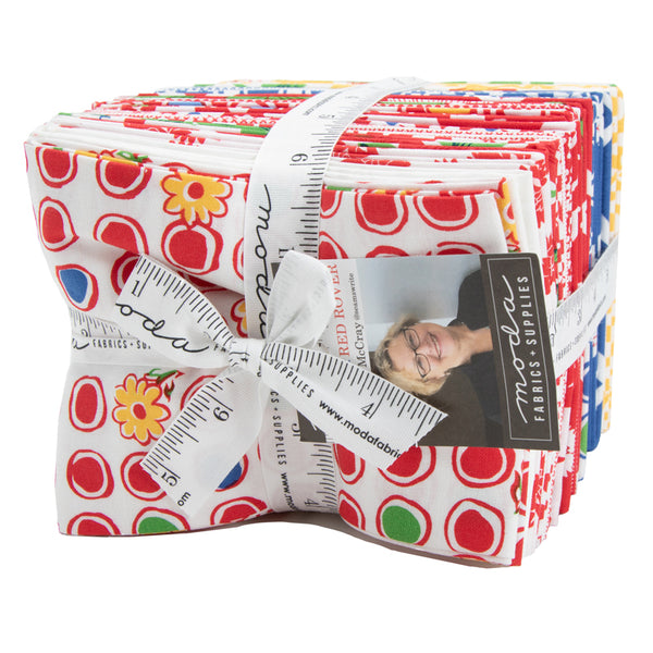 """Feed Sacks: Red Rover"" 30 piece Fat Quarter Bundle by Linzee Kull McCray for Moda"