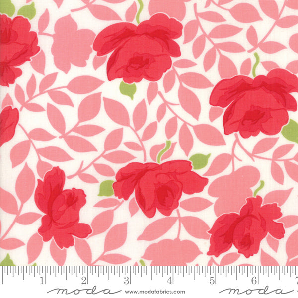 """Little Snippets""-Floral Vintage Rose Pink by Bonnie & Camille for Moda"