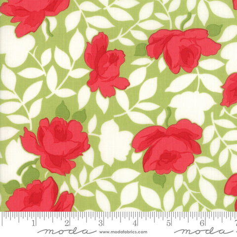 """Little Snippets""-Floral Vintage Rose Light Green by Bonnie & Camille for Moda"