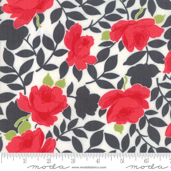 """Little Snippets""-Floral Vintage Rose Grey by Bonnie & Camille for Moda"