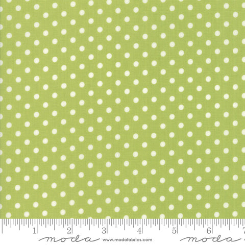 """Little Snippets""-Floral Dot Light Green by Bonnie & Camille for Moda"