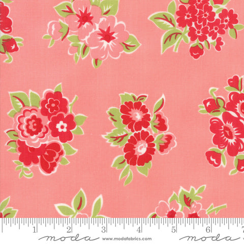 """Little Snippets""-Marmalade Floral Pink by Bonnie & Camille for Moda"