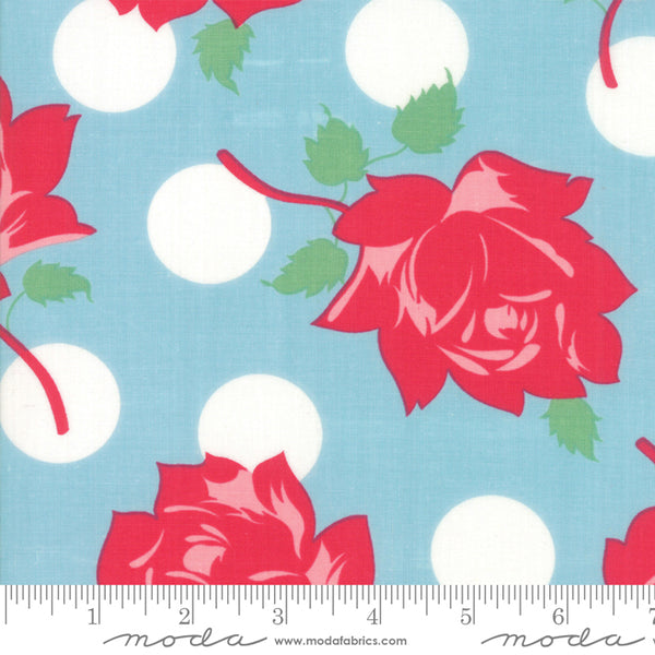 """Cheeky""-Floral Cheeky Blue Raspberry by Urban Chiks for Moda"