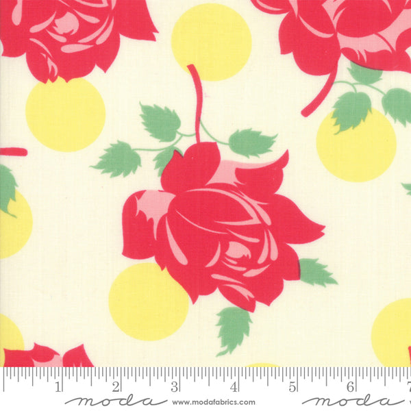 """Cheeky""-Floral Cheeky Buttercup Sweet Cream by Urban Chiks for Moda"