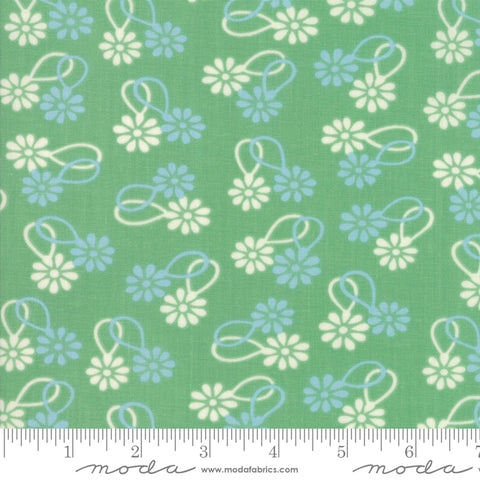"""Cheeky""- Floral Daisy Chain Light Green by Urban Chiks for Moda"
