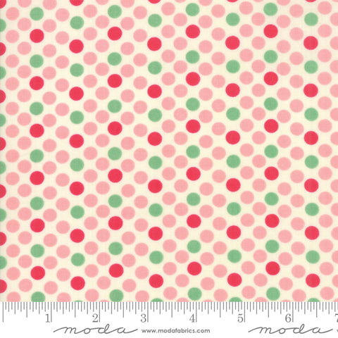 """Cheeky""- Floral Dottie Pink by Urban Chiks for Moda"