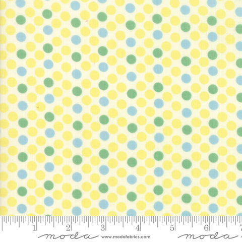 """Cheeky""- Floral Dottie Yellow by Urban Chiks for Moda"