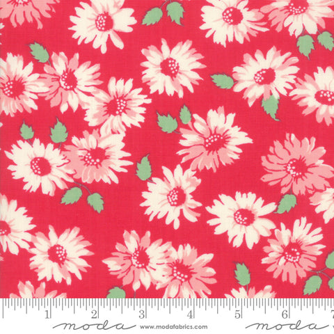 """Cheeky""- Floral Sassy Red by Urban Chiks for Moda"