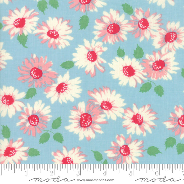 """Cheeky""- Floral Sassy Light Blue by Urban Chiks for Moda"