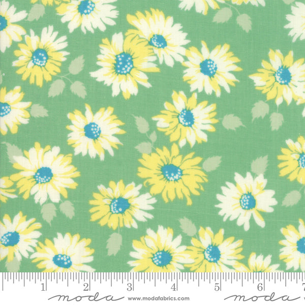 """Cheeky""- Floral Sassy Light Green by Urban Chiks for Moda"